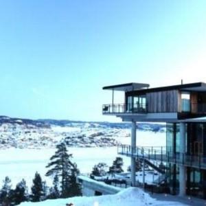 Hotell utsikt vinter