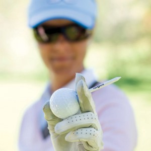 Golfball og pegg på Kragerø Resort