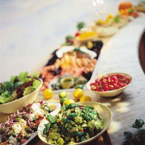 Restaurant buffe på Kragerø Resort
